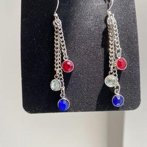 ❤️Just In❤️ Handmade Red White & Blue Earrings